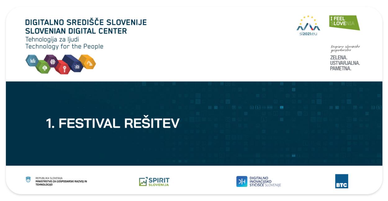 FESTIVAL REŠITEV- DIH SLOVENIJA